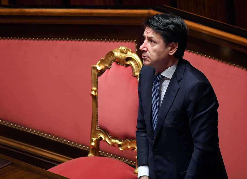 Italian Prime Minister Giuseppe Conte is expected today to also announce new measures to curb the steady spike in Covid-19 cases over recent weeks. — Reuters pic