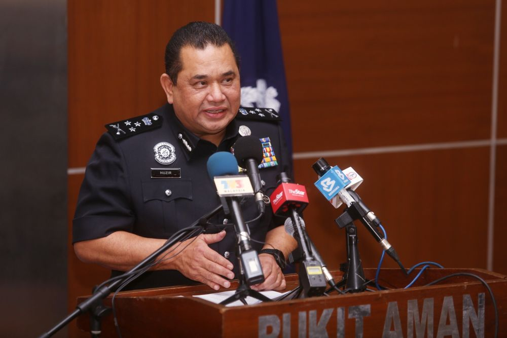 Bukit Aman Criminal Investigations Department director Huzir Mohamed said investigators are now focused on nabbing rogue officers in the various enforcement agencies who have been aiding and abetting the smugglers. — Picture by Choo Choy May