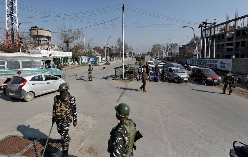 Kashmir, a disputed Himalayan territory, has been split since 1947 between India and Pakistan. — Reuters pic