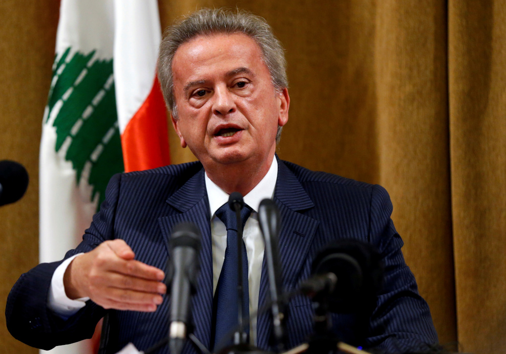 Lebanese  Central Bank governor Riad Salameh says banks that cannot increase their capital by 20 per cent by the end of February 2021 will have to get out of the market. — Reuters pic