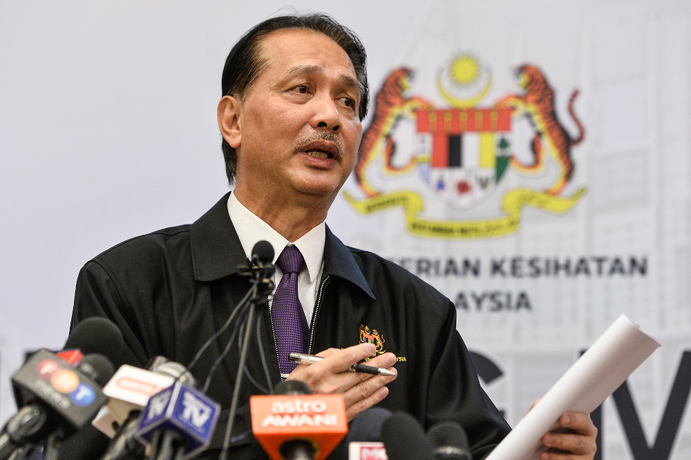 Health director-general Datuk Seri Dr Noor Hisham speaks during a press conference in Putrajaya April 21, 2020. — Picture by Miera Zulyana