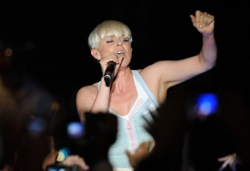 Singer Robyn at the MTV O Music Awards in West Hollywood, California, October 31, 2011. — Afp-Relaxnews pic