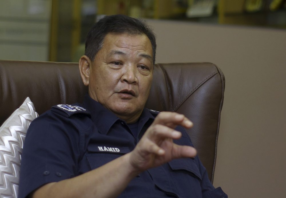 IGP Tan Sri Abdul Hamid Bador said a police report is confidential and cannot be revealed to the public. ― Bernama pic