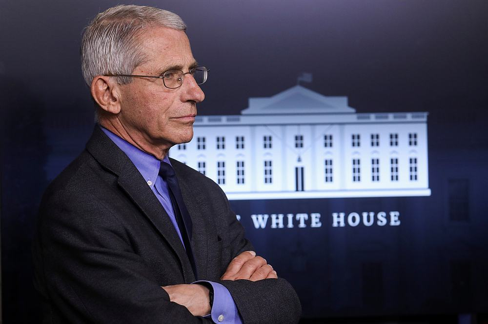 National Institute of Allergy and Infectious Diseases Director Dr Anthony Fauci at the daily coronavirus task force briefing at the White House in Washington April 13, 2020. — Reuters pic
