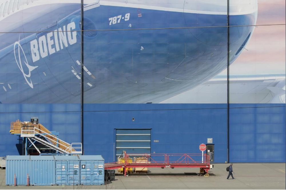 A worker leaves the Boeing Everett Factory, amid the coronavirus disease (Covid-19) outbreak, in Everett, Washington, US, March 23, 2020. — Reuters pic