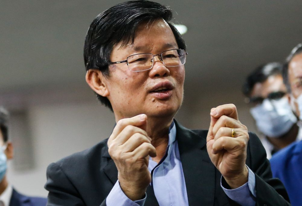 Penang Chief Minister Chow Kon Yeow said the dam works involved phases 2B and 2C, which were cucial to increase raw water production capacity. — Picture by Sayuti Zainudin