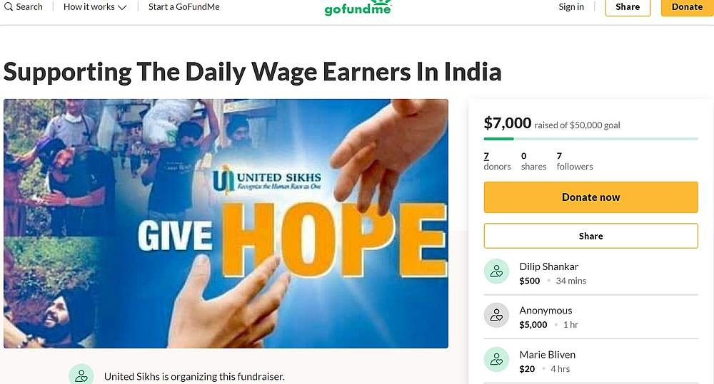 The funds raised will be used for food, sanitiser and public education on hygiene practices to prevent contracting Covid-19. — Screengrab from GoFundMe
