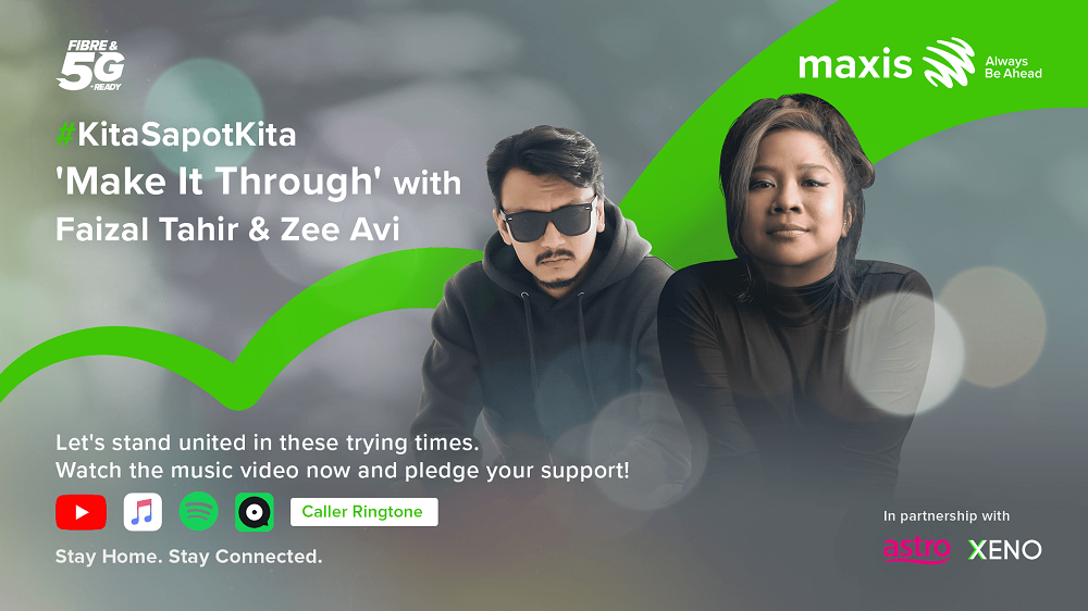 Lending a helping hand is as easy as playing and sharing the song online through your preferred streaming platform. — Picture courtesy of Maxis
