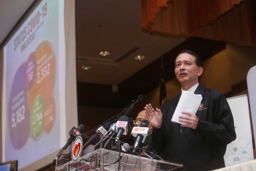 Health director-general Datuk Dr Noor Hisham Abdullah said the ministry will start clinical trials on Covid-19 patients soon as part of a global effort to treat the coronavirus. — Picture by Choo Choy May