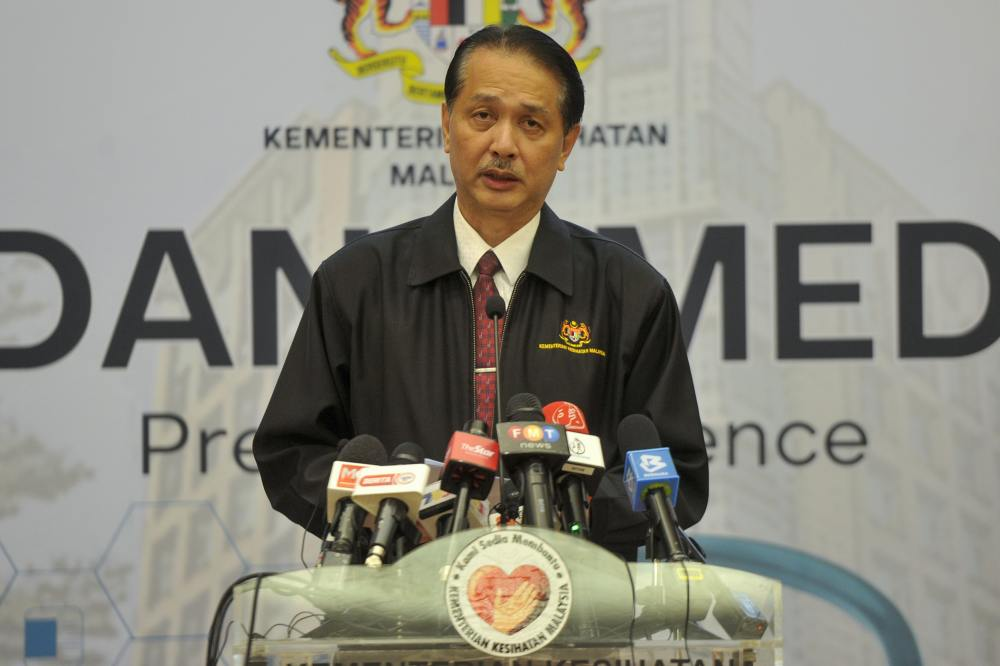 Health director-general Datuk Dr Noor Hisham Abdullah speaks during a press conference in Putrajaya April 2, 2020. ― Picture by Shafwan Zaidon