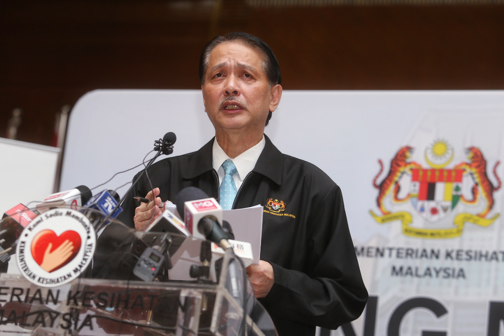 Health director-general Datuk Dr Noor Hisham Abdullah said Malaysians cannot afford to be complacent as the country could still experience another surge in Covid-19 cases despite increasing signs of a recovery. — Picture by Choo Choy May