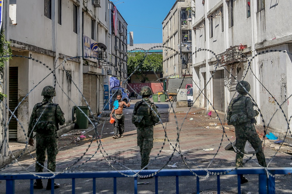 A general view near the Pasar borong Selayang during the movement control order (MCO) in Kuala Lumpur April 20, 2020. ― Picture by Firdaus Latif