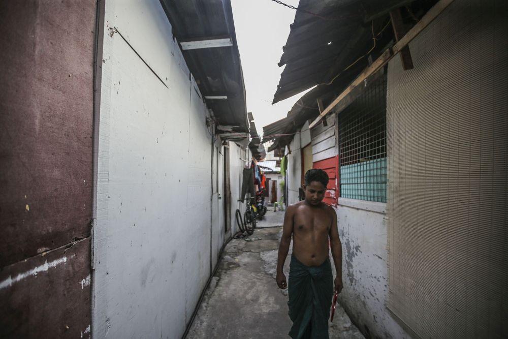 General view of a Rohingya settlement in Bandar Baru Sentul, Kuala Lumpur April 24, 2020. — Picture Hari Anggara