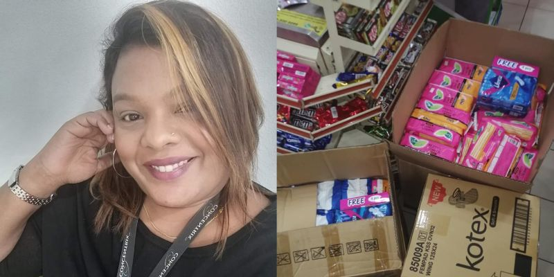 Vimala Kanagaratnam was driven to help after receiving a heartbreaking text message from a father who couldn't afford to buy pads for his daughters. — Pictures courtesy of Vimala Kanagaratnam