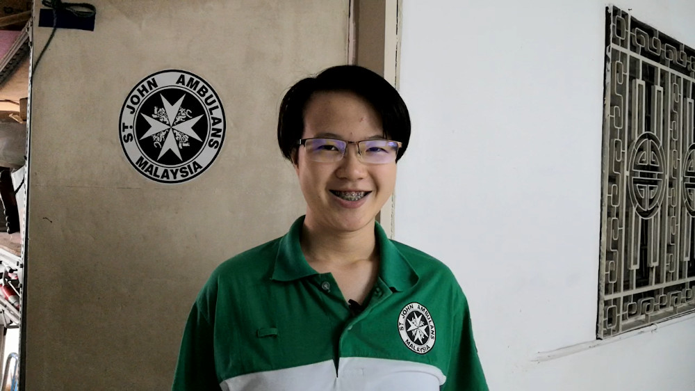 The third-year medical student said that her voluntary work at SJAM convinced her to pursue a medical career. — Picture courtesy of St John's Ambulance of Malaysia