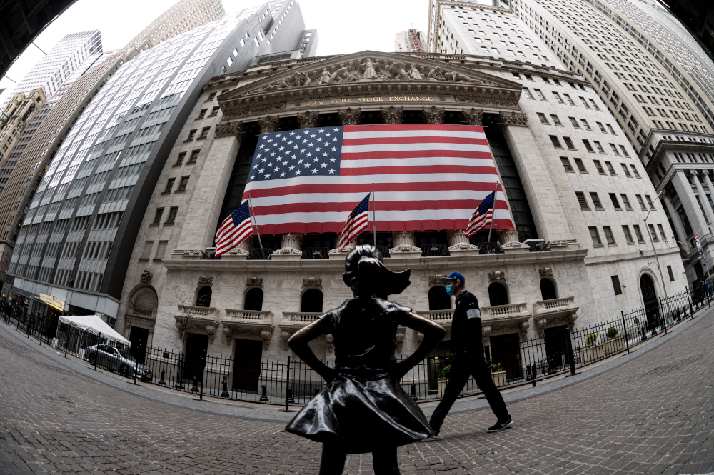 Wall Street drops at open as tech stocks slide, COVID cases jump