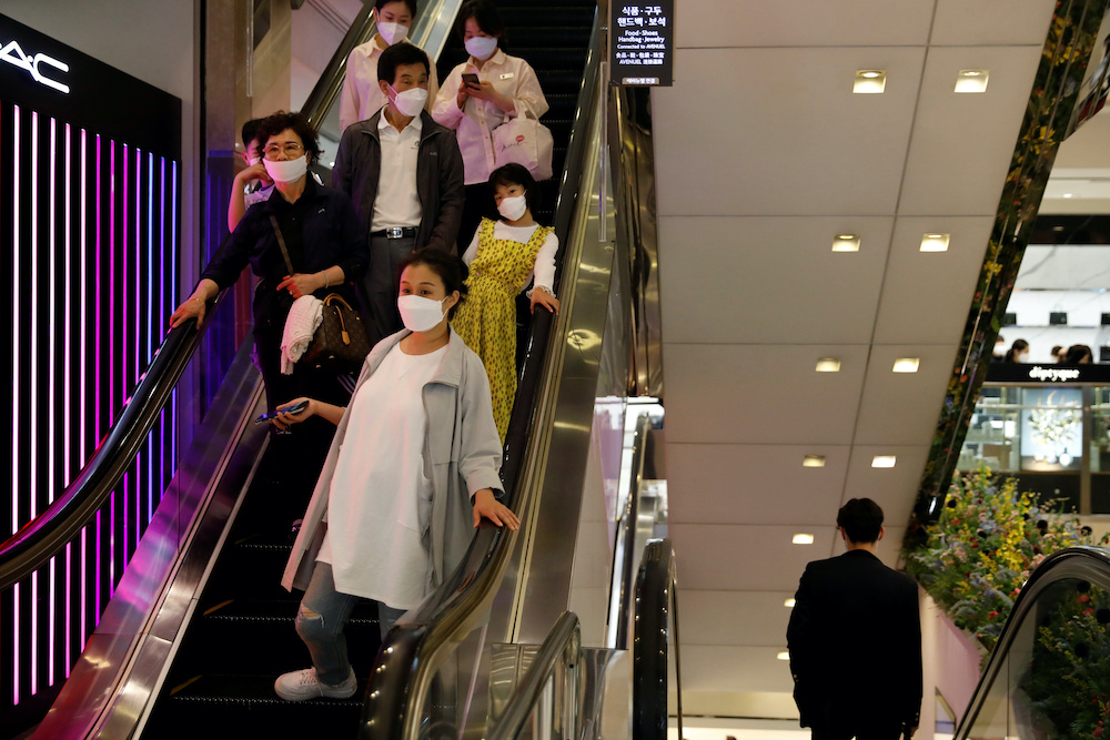 South Korea is in the middle of its worst wave of infections. — Reuters pic
