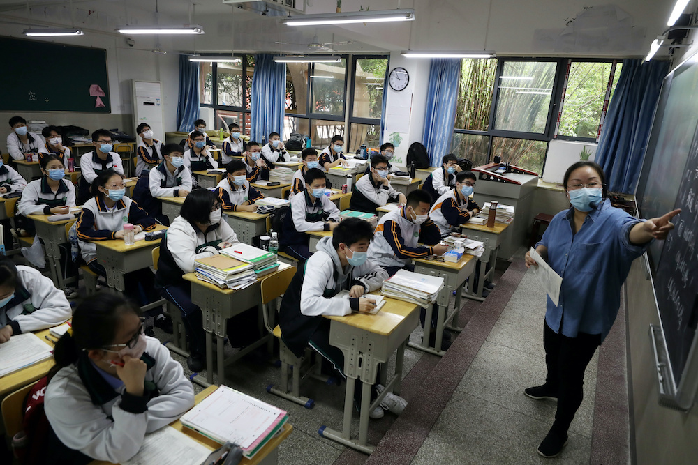 Wuhan advised students to wear masks to and from school and avoid public transportation if possible. — China Daily handout via Reuters
