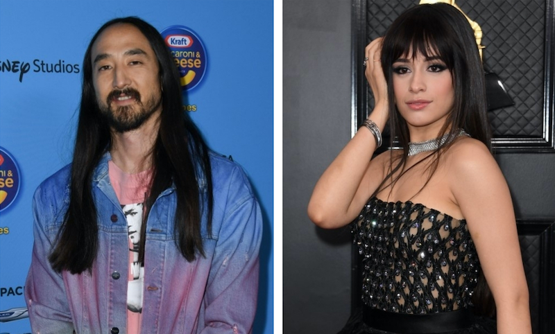 Steve Aoki and Camila Cabello will participate in the livestream series 'Happy at Home: #OneCommunity Live.' — AFP pic