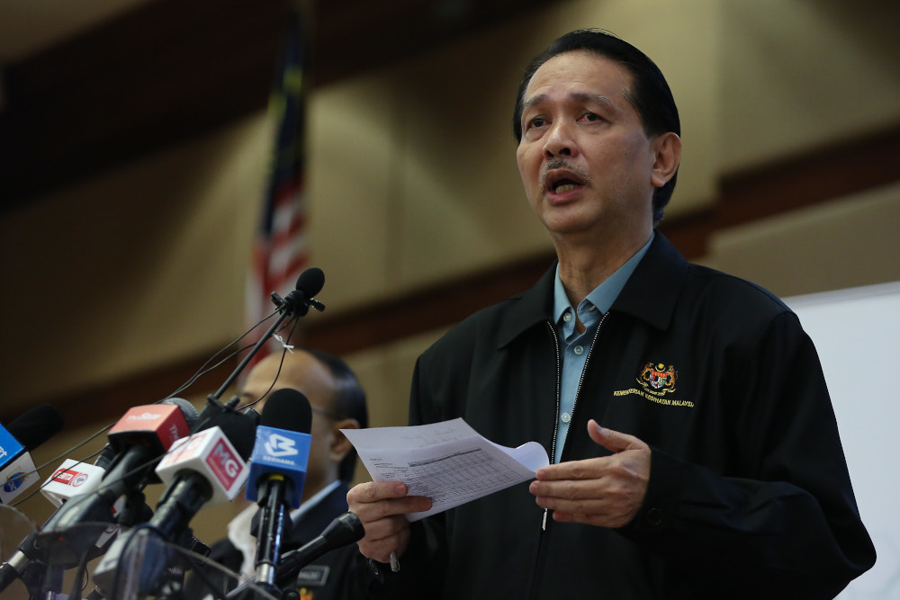 Health director-general Datuk Dr Noor Hisham Abdullah said the ministry is hopeful that with the new CMCO enforced the country will see new Covid-19 positive cases drop to single digit in one- or two-weeks' time. — Picture by Yusof Mat Isa