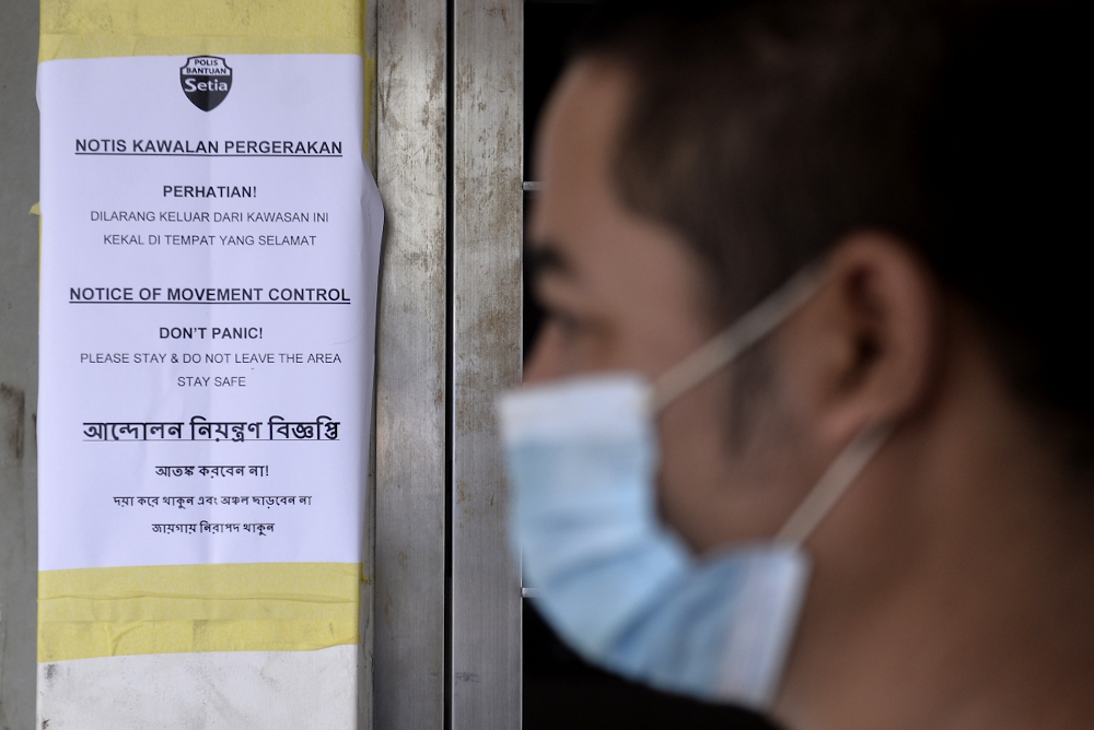 He also said the third cluster — which spans Petaling, Kuala Langat and Klang in Selangor — dubbed the Auto cluster, involved a symptomatic index patient who underwent screening and tested positive on October 15 that has since been admitted to Sungai Buloh Hospital. — Picture by Miera Zulyana