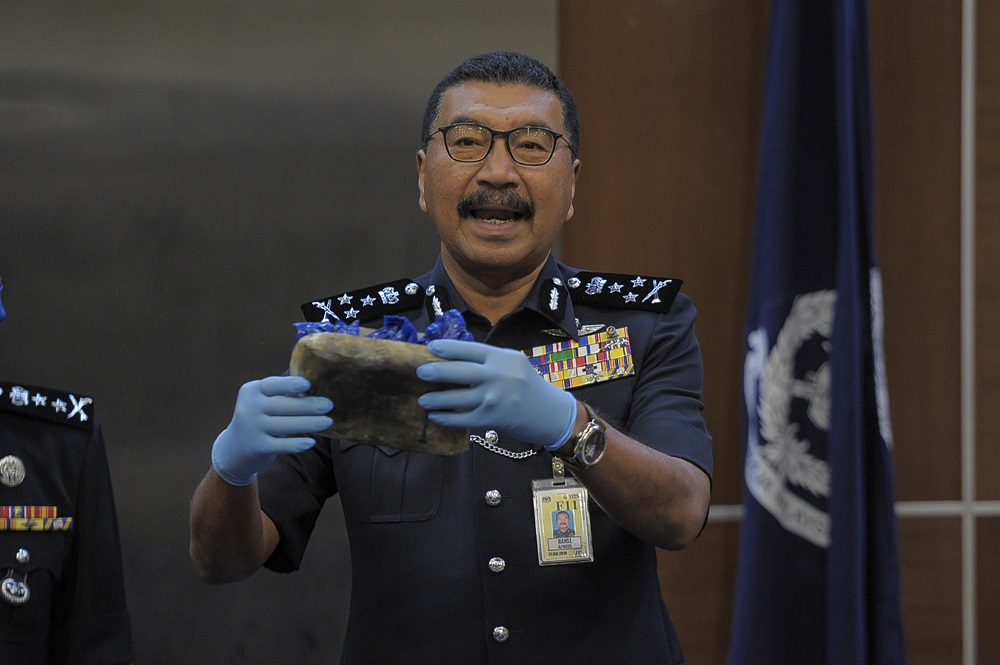 Federal Narcotics Crimes Investigations Department director Commissioner Datuk Ramli Din at a press conference at Bukit Aman in Kuala Lumpur May 13, 2020.