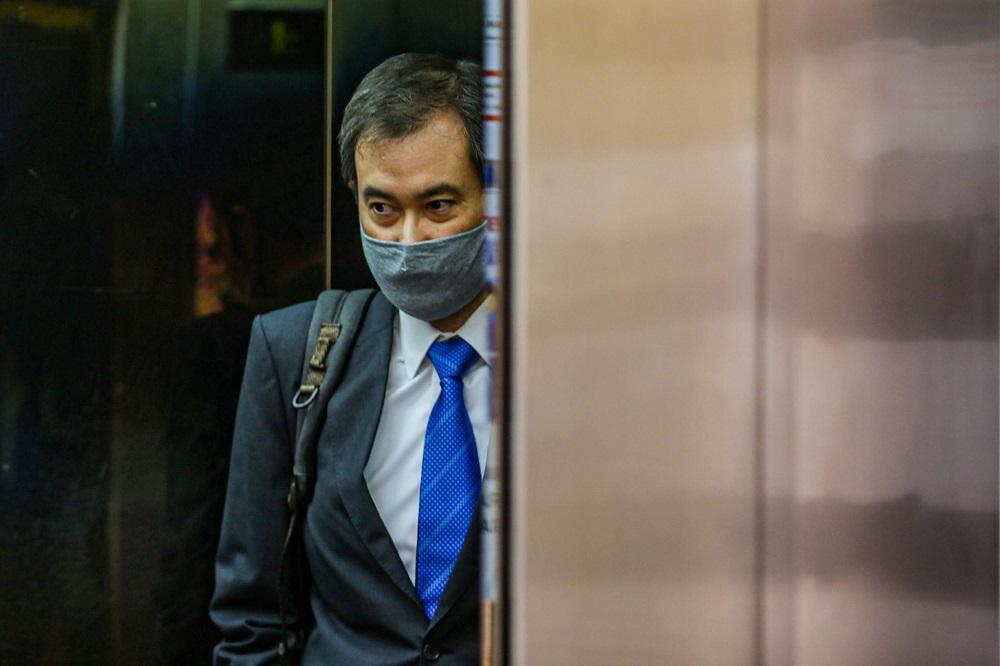 Former 1MDB chief executive officer, Datuk Shahrol Azral Ibrahim Halmi, leaves the Kuala Lumpur Court Complex May 21, 2020.