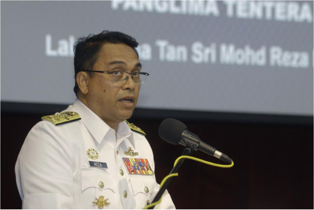 Chief of Navy Tan Sri Mohd Reza Mohd Sany said two ships had been stationed in Sabah, so far, namely KD Keris and KD Sundang. — Bernama pic