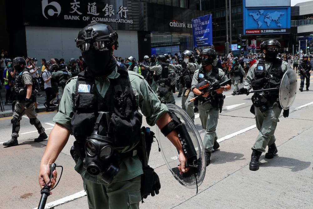 美国同时警告在港经商的国际企业面临情况恶化的风险,就北京打压香港民主究责。-路透社-