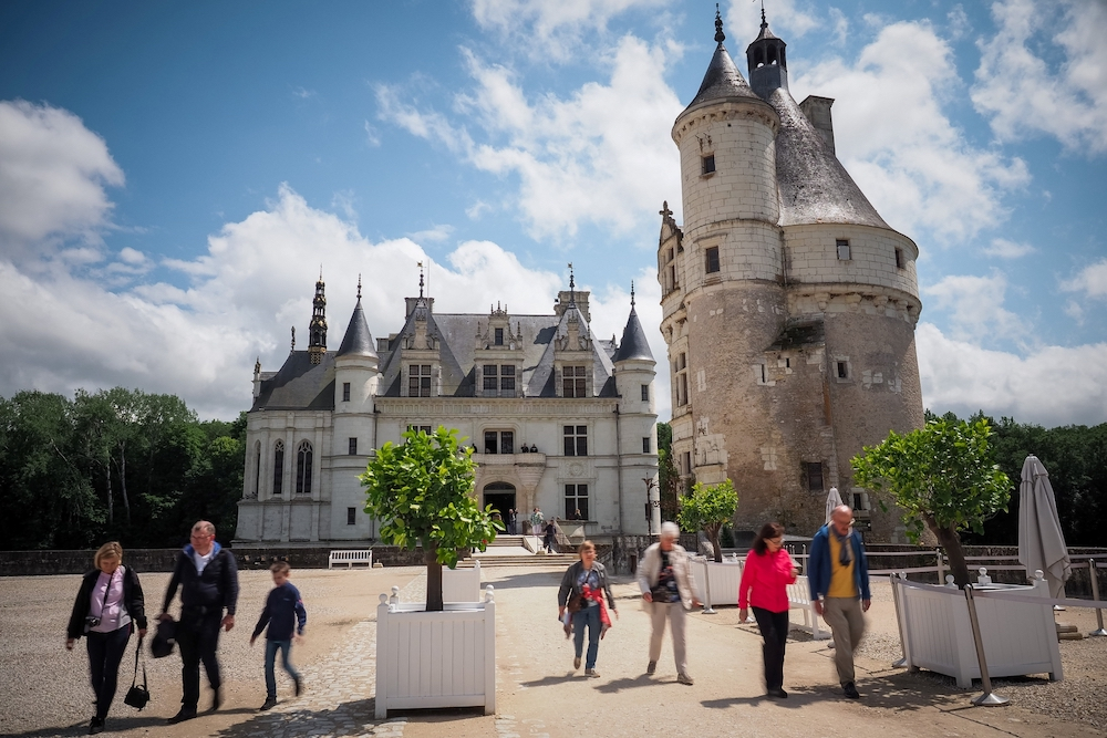 Tourists visit the Castle of Chenonceau, in Chenonceaux, Central France June 13, 2019. — AFP pic
