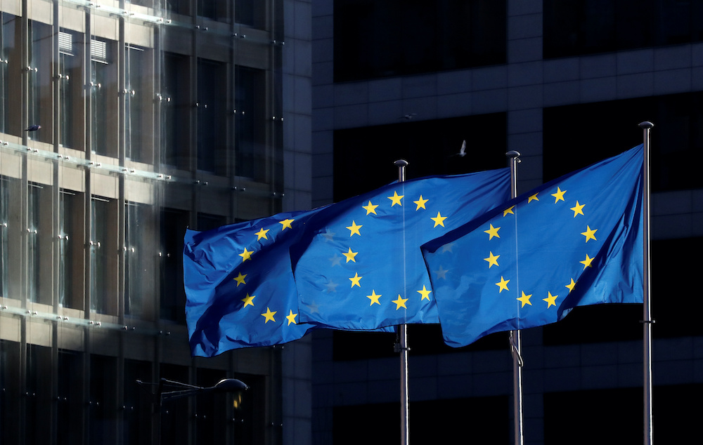 Under a plan awaiting approval or changes from the 27 EU member states, the European Commission would borrow €750 billion in the market to fund spending aimed at reviving economies ravaged by the coronavirus crisis. — AFP pic