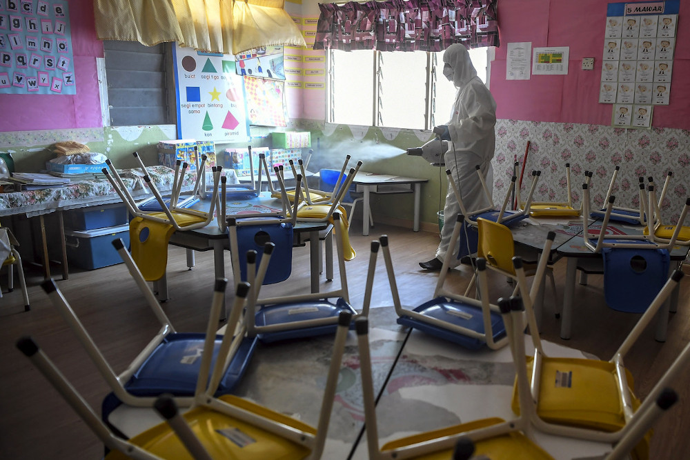The Taska Genius Perpaduan kindergartens in states placed under CMCO and RMCO are allowed to operate starting this Monday. — Bernama pic