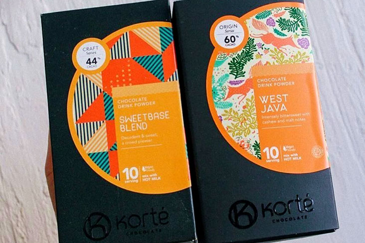 Korté Chocolate offers higher quality drinking chocolate targeted at discerning consumers — Pictures courtesy of Korté Chocolate