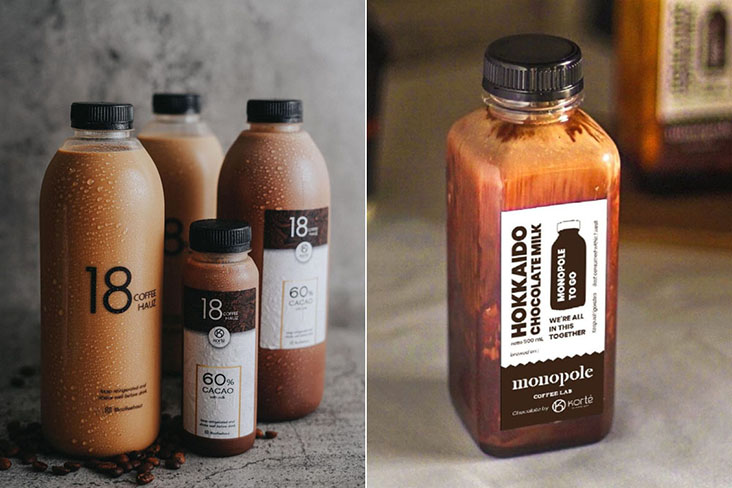 During the Covid-19 lockdown, cold chocolate drinks by Korté Chocolate clients such as Monopole Coffee Lab and 18 Coffee Hauz sell well