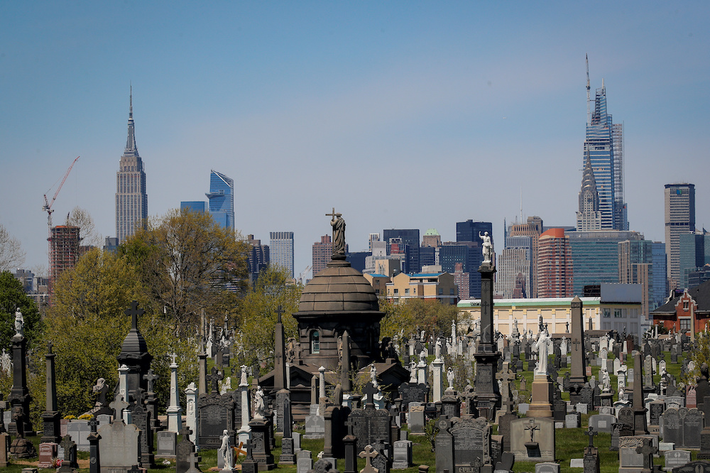 A view of the Manhattan skyline as seen from Calvary Cemetery during the outbreak of the coronavirus disease in the Queens borough of New York  May 5, 2020. — Reuters pic