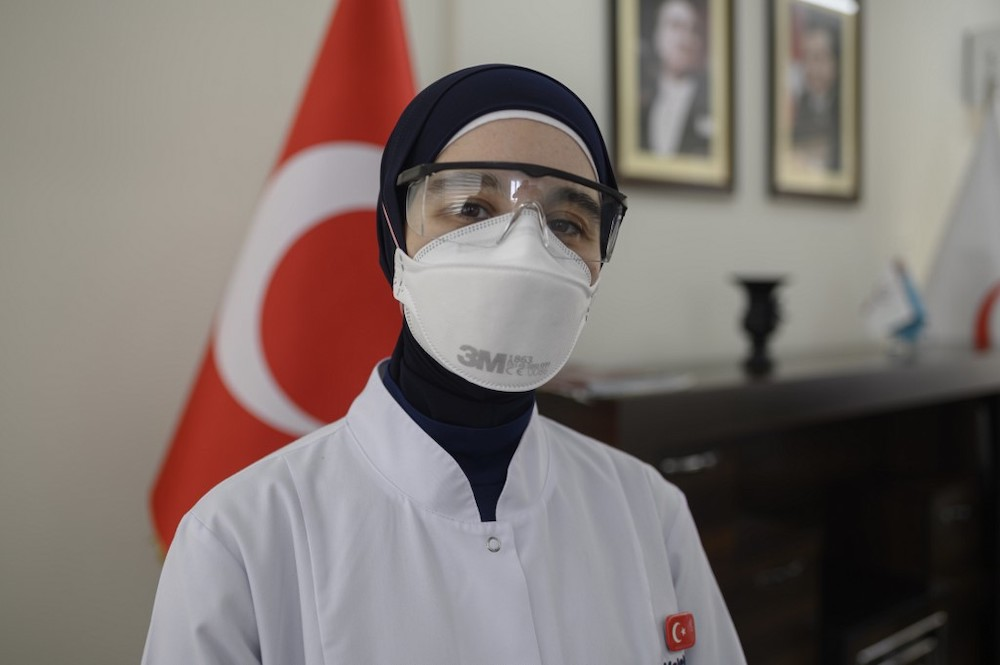 Head of Fatih District Health Department Melek Nr Aslan poses during an interview with AFP in Istanbul on May 7, 2020. In Istanbul. — Reuters pic