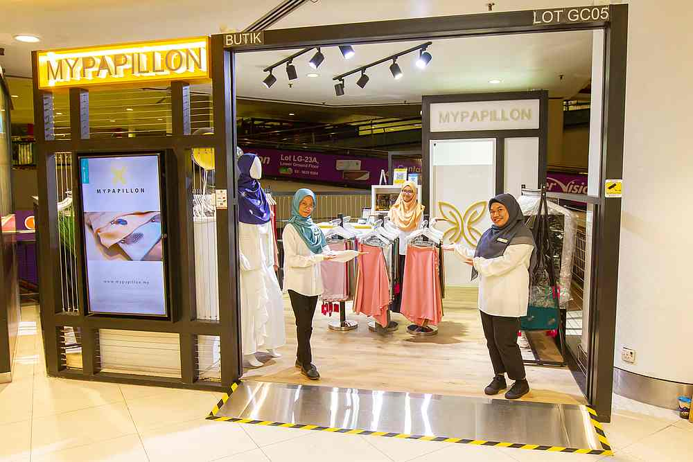 While the MyPapillon store is now open under CMCO guidelines, Haslinda urges customers to use 'safe' online platforms for purchases. — Picture courtesy of Haslinda Md Isa