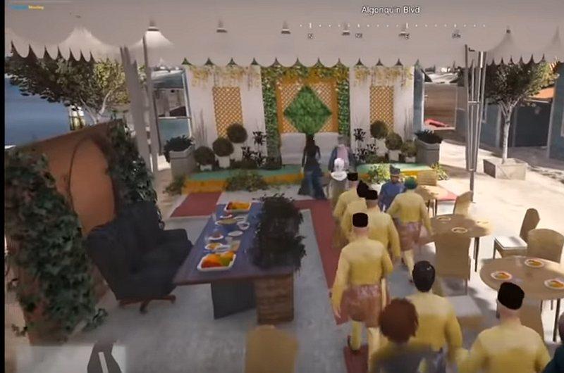 Screenshot of the wedding ceremony. — Screenshot courtesy of Youtube/ GTA 5 Malaysia