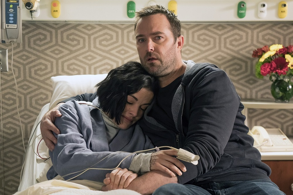 Stapleton and co-star Jaimie Alexander in a scene from the final season of 'Blindspot'. ― Picture courtesy of Warner TV