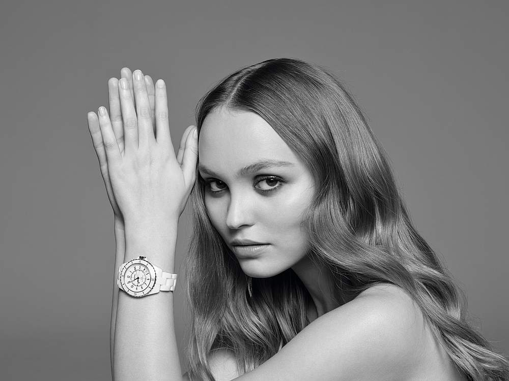 Lily-Rose Depp celebrates the 20th anniversary of the J12 watch by Chanel. — Picture courtesy of Chanel Horlogerie, Chanel via AFP