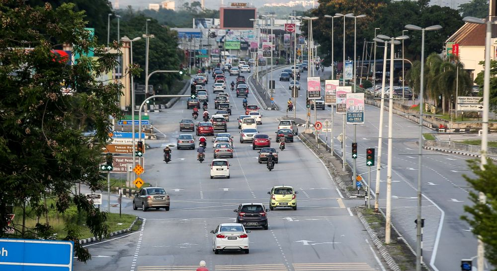 A general view of traffic in Ipoh on the first day of the conditional movement control order May 4, 2020. — Picture by Farhan Najib