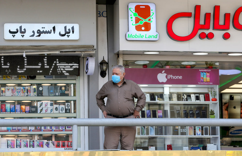 Iranian health officials have warned about a third wave of the pandemic, while the government has blamed the spike in infections partly on decline in public adherence to health protocols. — AFP pic