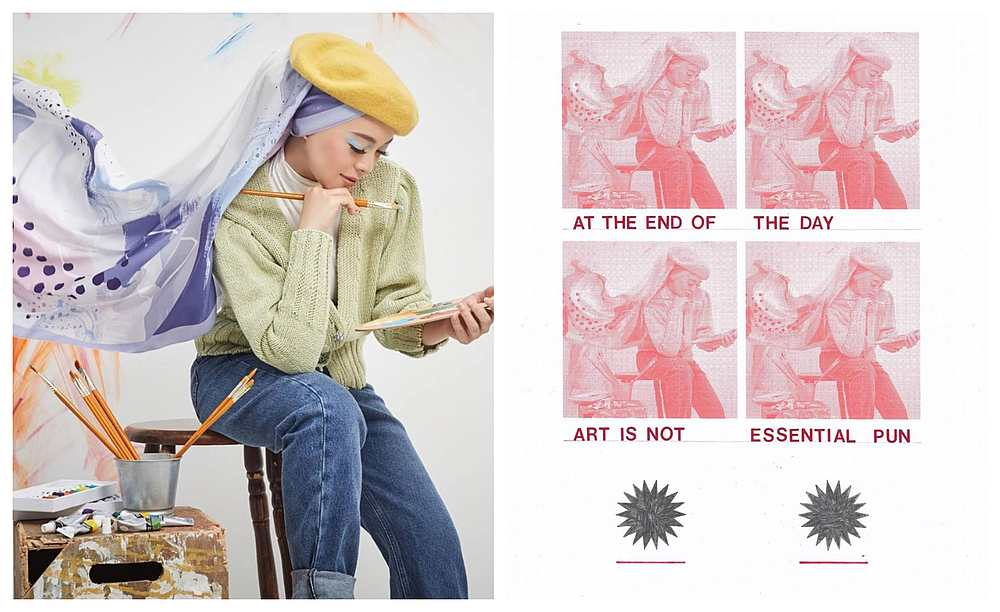 Izat's image was inspired by the Duck Group founder's recent collection which came under fire for allegedly copying another homegrown brand's designs. — Pictures from Instagram/Duck Group, Izat Arif