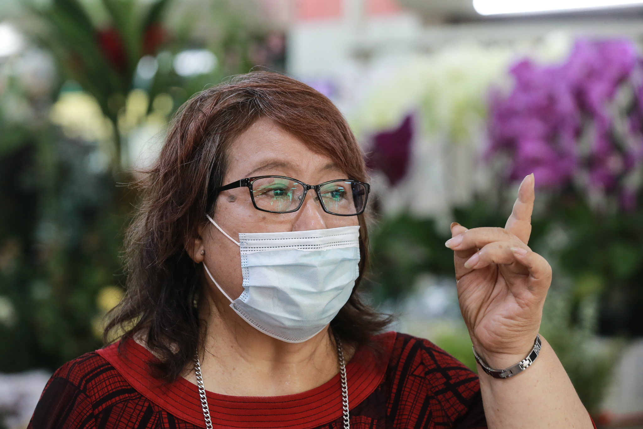 Taman Tun Dr Ismail Market Traders Association chairman Jenny Loo speaks to Malay Mail during an interview in Petaling Jaya May 19, 2020. — Picture by Ahmad Zamzahuri