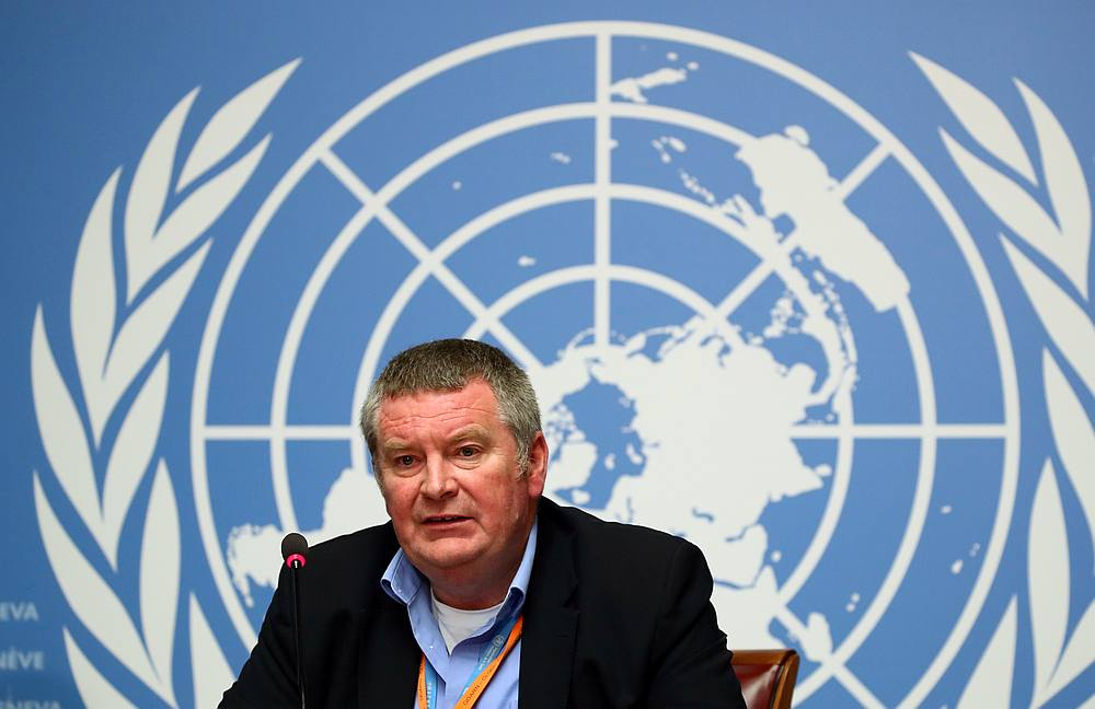 Mike Ryan, Executive Director of the World Health Organisation (WHO), at a news conference in Geneva, Switzerland May 3, 2019. — Reuters pic