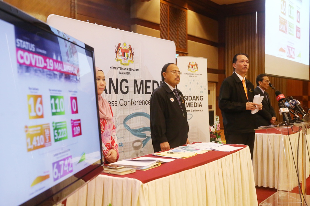 Health director-general Datuk Dr Noor Hisham Abdullah giving a press conference on Covid-19 in MOH, Putrajaya, May 12, 2020. — Picture by Choo Choy May