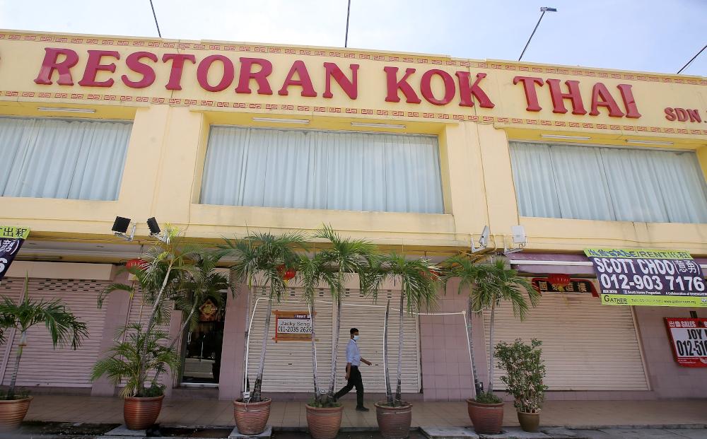 Popular seafood restaurant, Restoran Kok Thai, located at Bandar Baru Medan Ipoh closed their business permanently. — Picture by Farhan Najib