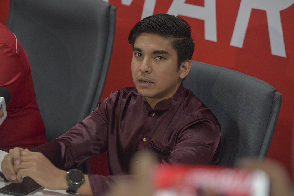 Syed Saddiq Syed Abdul Rahman speaks to reporters during a press conference at Yayasan Sedar in Putrajaya May 31, 2020. — Picture by Shafwan Zaidon