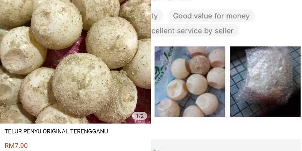 The screenshots were originally shared by @ZoologiMY on Twitter who highlighted how turtle egg merchants are now going online to sell their wares. — Pictures from Twitter/ZoologiMY