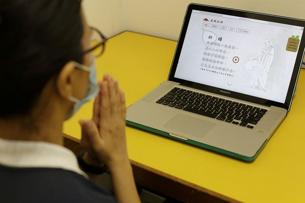 Participants will be given a step-by-step guide of the virtual ceremony in the safety and comfort of their homes. — Picture courtesy of Tzu Chi Foundation